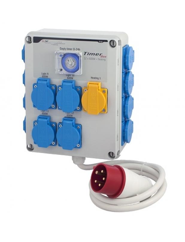 GSE Időzítő 12 x 600 W + hőmérséklet