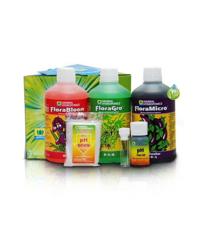 General Hydroponics Europe One Part Tripack