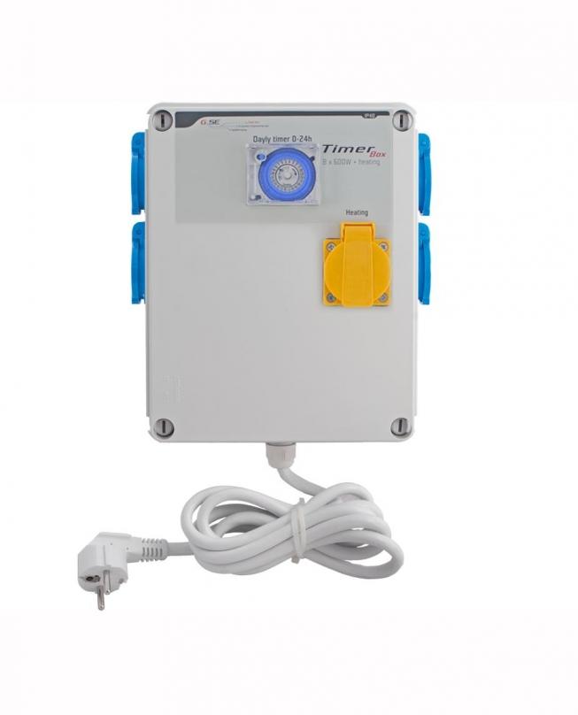 GSE Időzítő 4 x 600 W + hőmérséklet