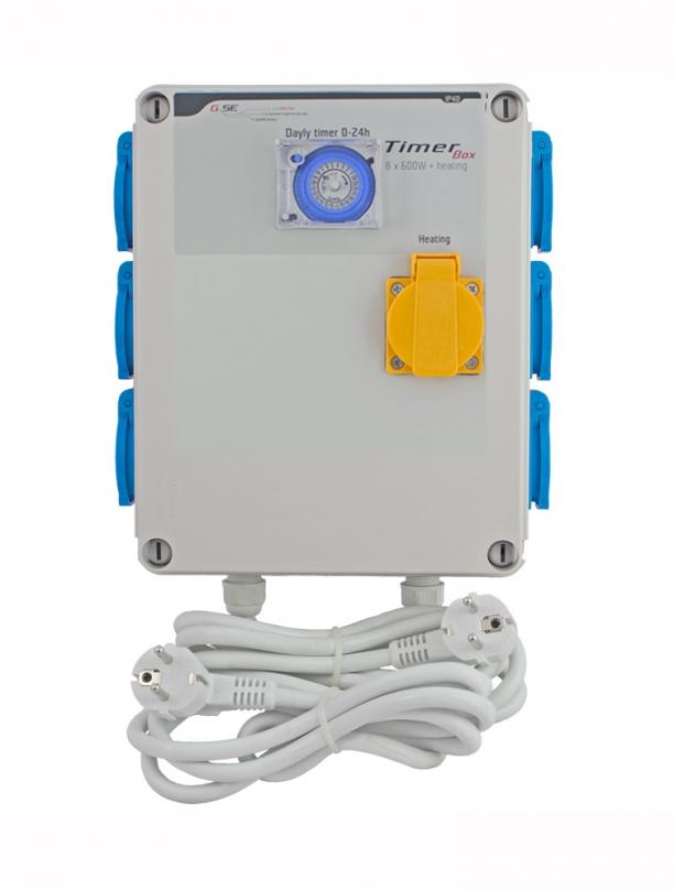 GSE Időzítő 6 x 600W + hőmérséklet