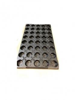 Jiffy tálca  38 mm (40 darabos) Fekete
