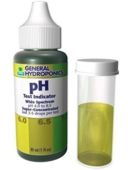 General Hydroponics pH test kit 30ml