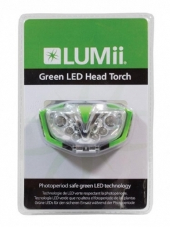 Lumii Green LED fejlámpa