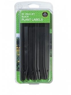 Garland Plant Labels (Black) 20cm 8