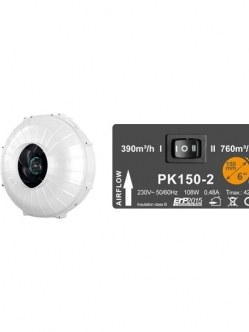 Prima Klima PK150-2 Sebesség Venti 390m3/h-760m3/h