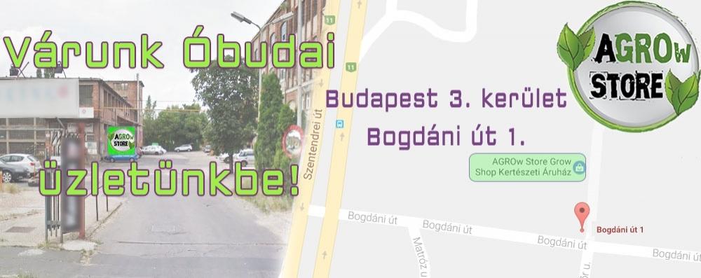 AGROw STORE Grow Shop Budapest 3. kerület Bogdáni út 1.